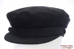 Captains cap Hawkins black corduroy 60 [new]