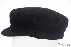 Captains cap Hawkins black corduroy 58 [new]