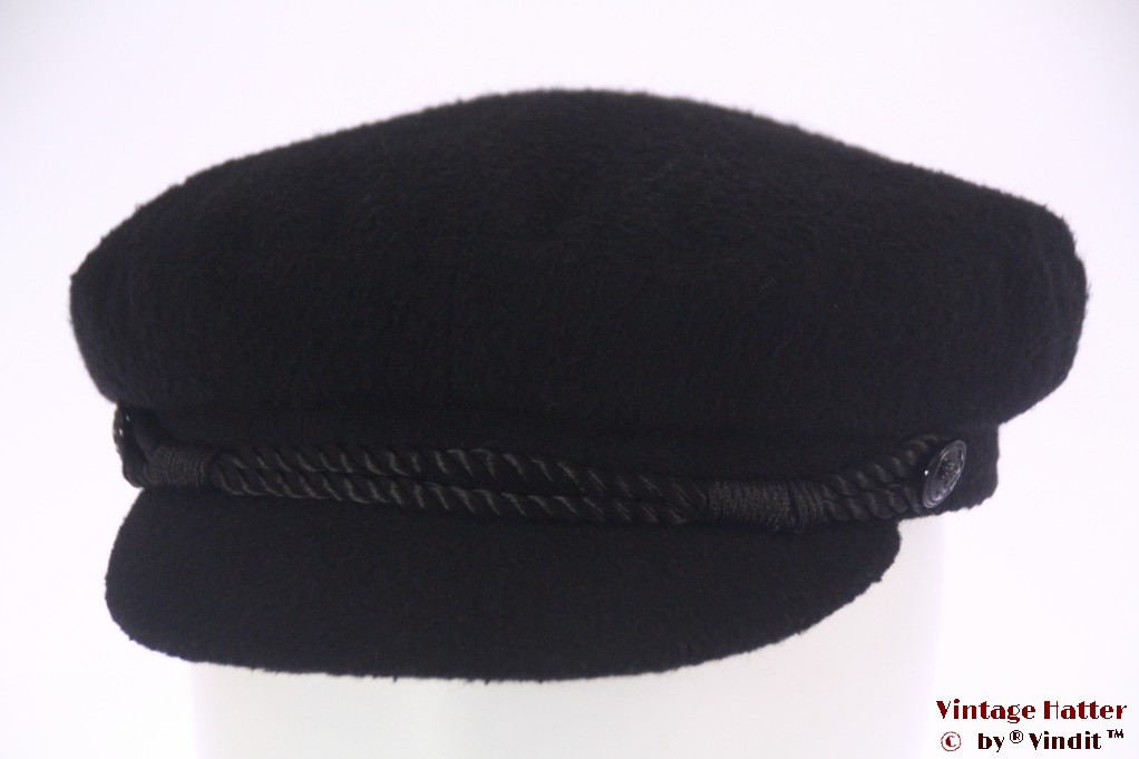 Captains cap black felt 59