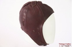 Aviator cap brownish red leather +/- 56
