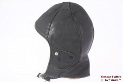 Aviator cap dark grey leather with winter lining 54,5 (XS)