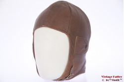 Aviator cap orange brown leather 54-56 (xs-s)