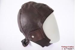 Aviator cap Hein Gericke redish brown leather 58