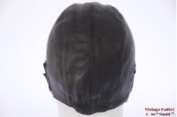 Aviator cap Boeri Sport black leather 55-57