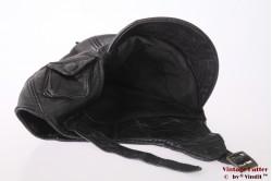 Cabrio cap black leather +/- 58