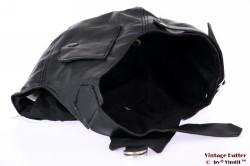 Aviator cap black polyester 57-61 (L/XL) [new]