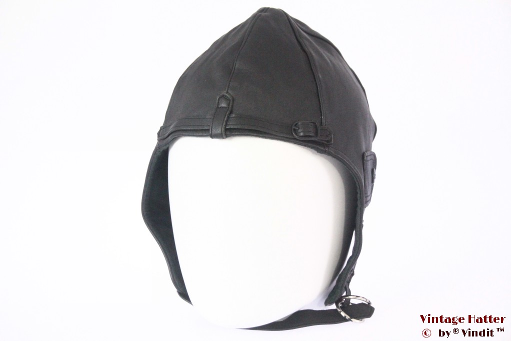 Aviator cap IXS black leather 54-59