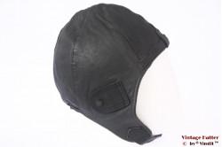 Aviator cap IXS black leather 54-59