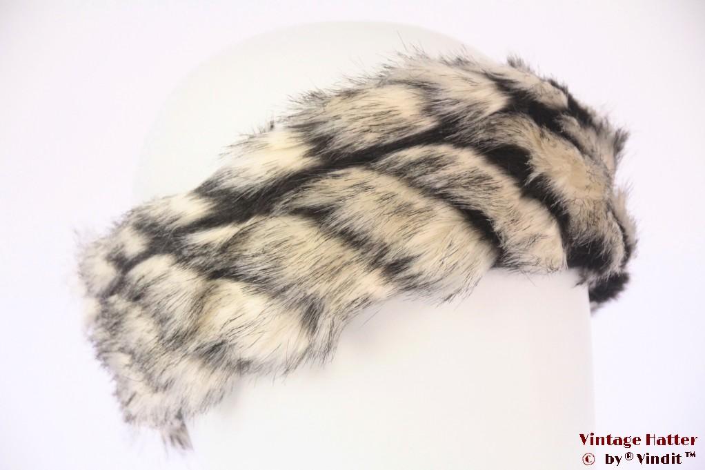Headband Hawkins faux fur white 55-59 [new]