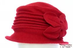 Dames winterhoed Hawkins rood wol 57-59 [nieuw]