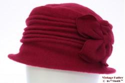 Dames winterhoed Hawkins bordeaux roze wol 57-59 [nieuw]