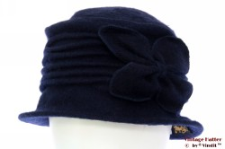 Dames winterhoed Hawkins donker blauw wol 57-59 [nieuw]