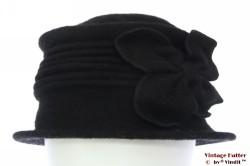 Dames winterhoed Hawkins zwart wol 57-59 [nieuw]