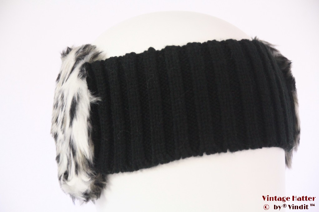 Headband Hawkins faux fur white 56-63 [new]
