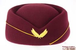 Stewardess pillbox burgundy purple 54-59