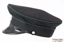 Uniform hat dark grey with green lines 56