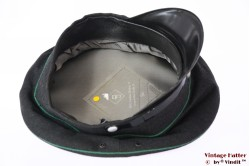 Uniform hat dark grey with green lines 56