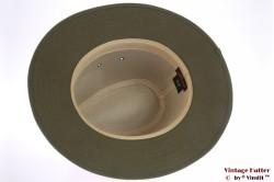 Outdoor hoed Hawkins donker groen katoen 60 (XL)  [nieuw]