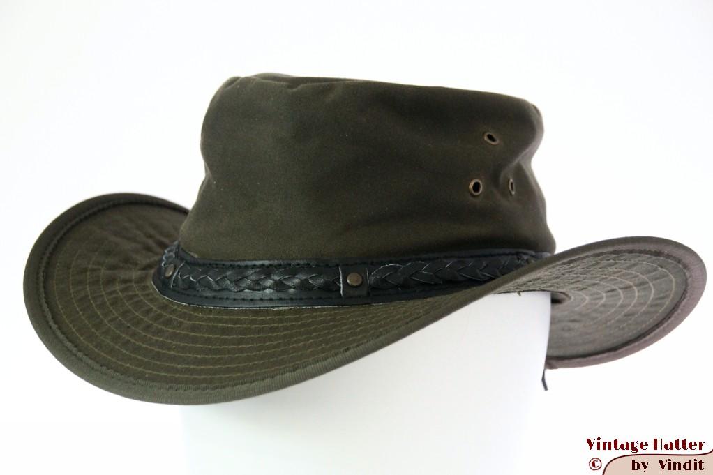 Australian outdoor wax hat Hawkins green cotton 60 (XL) [new]