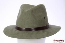 Outdoor hoed Hawkins licht groen faux suede 60 [nieuw]