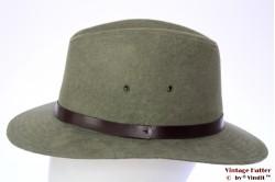 Outdoor hoed Hawkins licht groen faux suede 59 [nieuw]