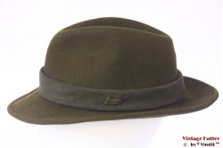 Outdoor hat Skogen dark green felt with hidden fluor band 60 (XL)