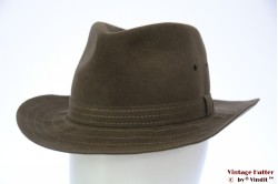 Outdoor hat Tesi soft brown brushed felt 56