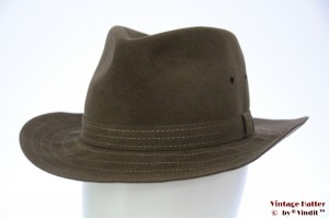 Outdoor hat Tesi soft brown brushed felt 56