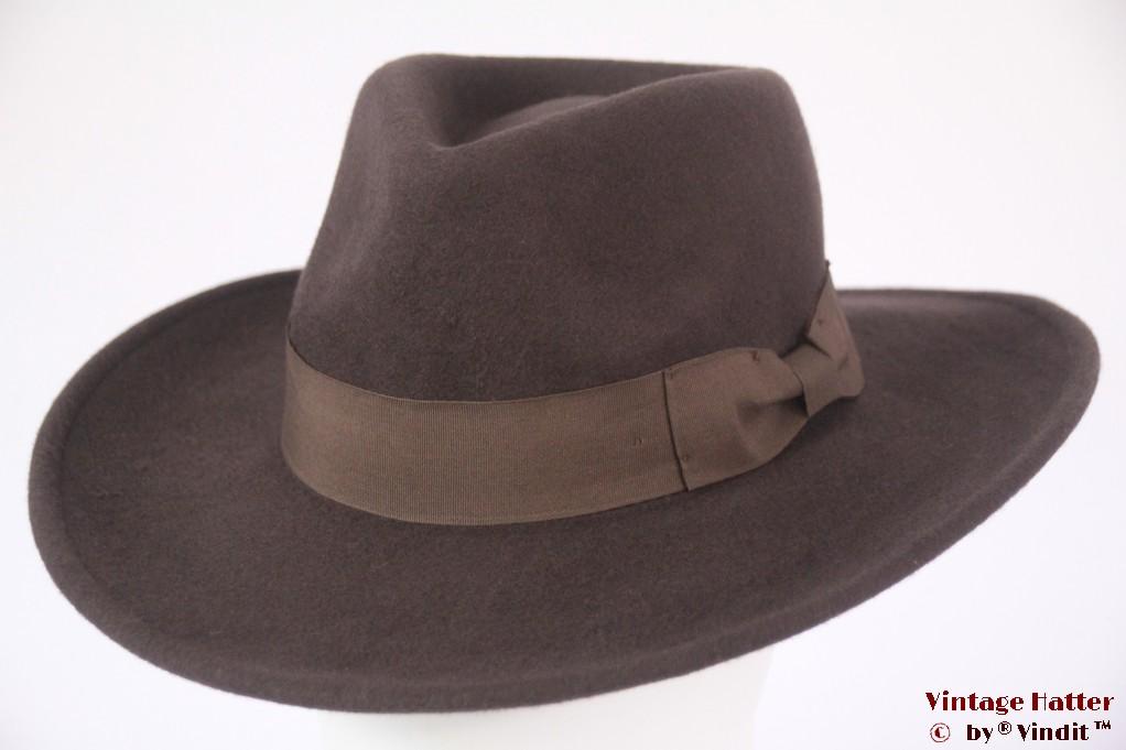 Luxe outdoor fedora Hawkins brown woolfelt 60 (XL) [new]