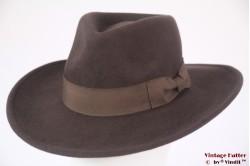 Luxe outdoor gleufhoed Hawkins bruin wolvilt 60 (XL) [nieuw]