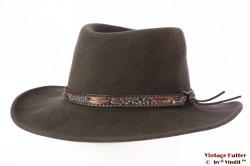 Outdoor hat Orvis brownish grey fur blend felt XX 58