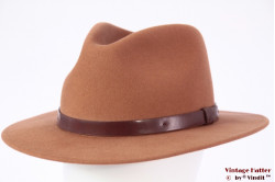 Outdoor Fedora Brixton Messer hide liver brown 58-59 (M) [New Sample]