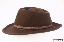 Ladies outdoor hat Heather brown woolfelt 58