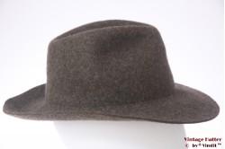 Outdoor hat Alpin Sporthut greyish brown wool felt 56
