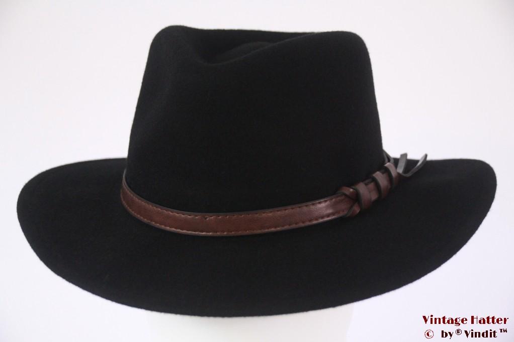 Luxe outdoor fedora Hawkins black woolfelt 60 (XL) [new]