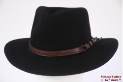 Luxe outdoor fedora Hawkins black woolfelt 60 (XL) [new]