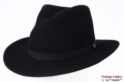 Outdoor Fedora Brixton Messer packable adjustable black felt 56-58 [New Sample]