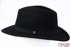 Outdoor Fedora Brixton Messer packable adjustable black felt 56-58 [New Sample]