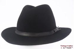 Outdoor hat black woolfelt 58
