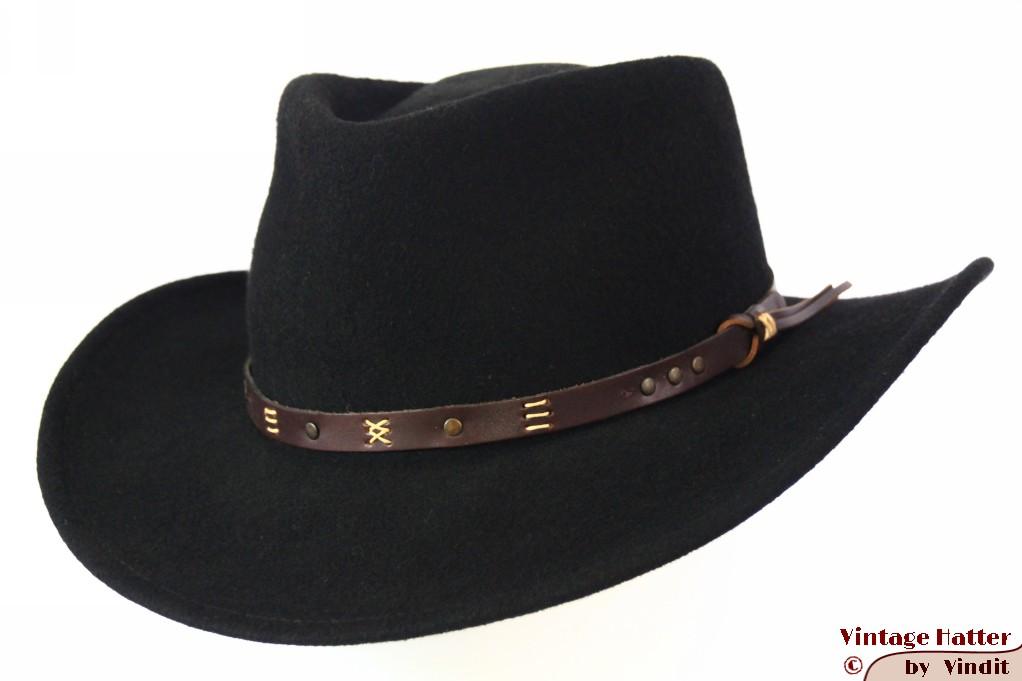 Outdoor hat Leisure Felt black woolfelt 59