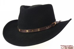 Outdoor hoed Leisure Felt zwart wolvilt 59