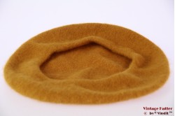 Alpino Beret mustard brown woven 54-60 [new]