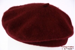 Alpino Beret burgundy red woven 50-57 [new]