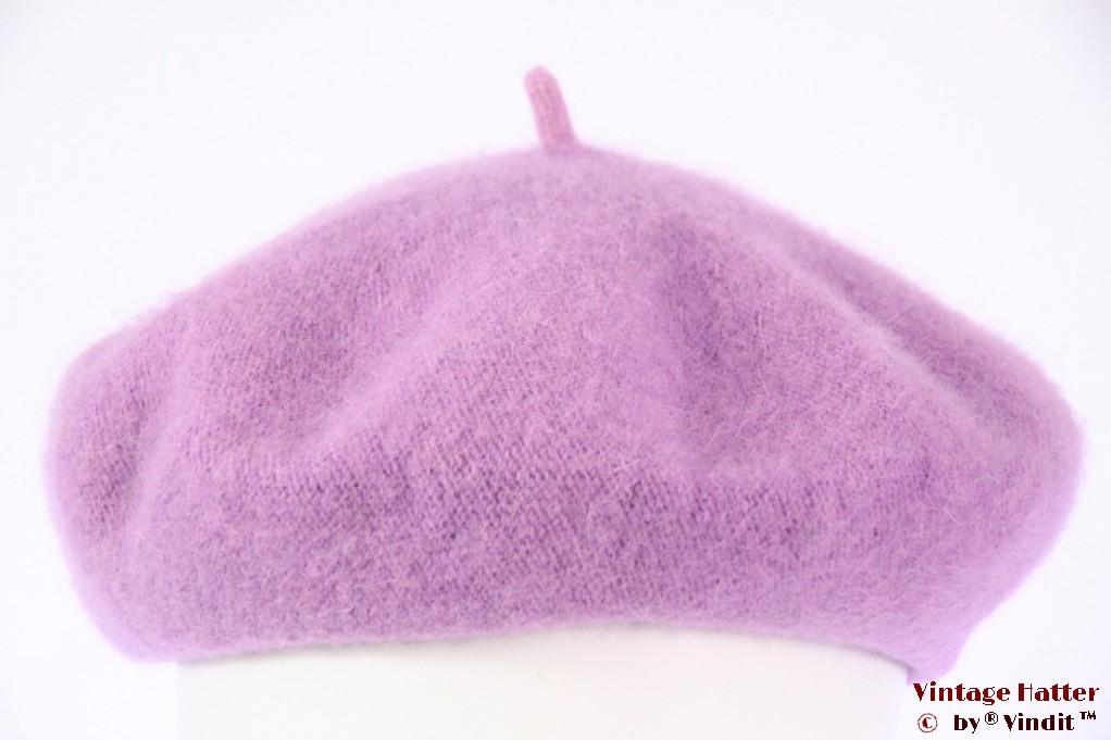 Alpino Beret soft lila purple woven 54-59 [new]
