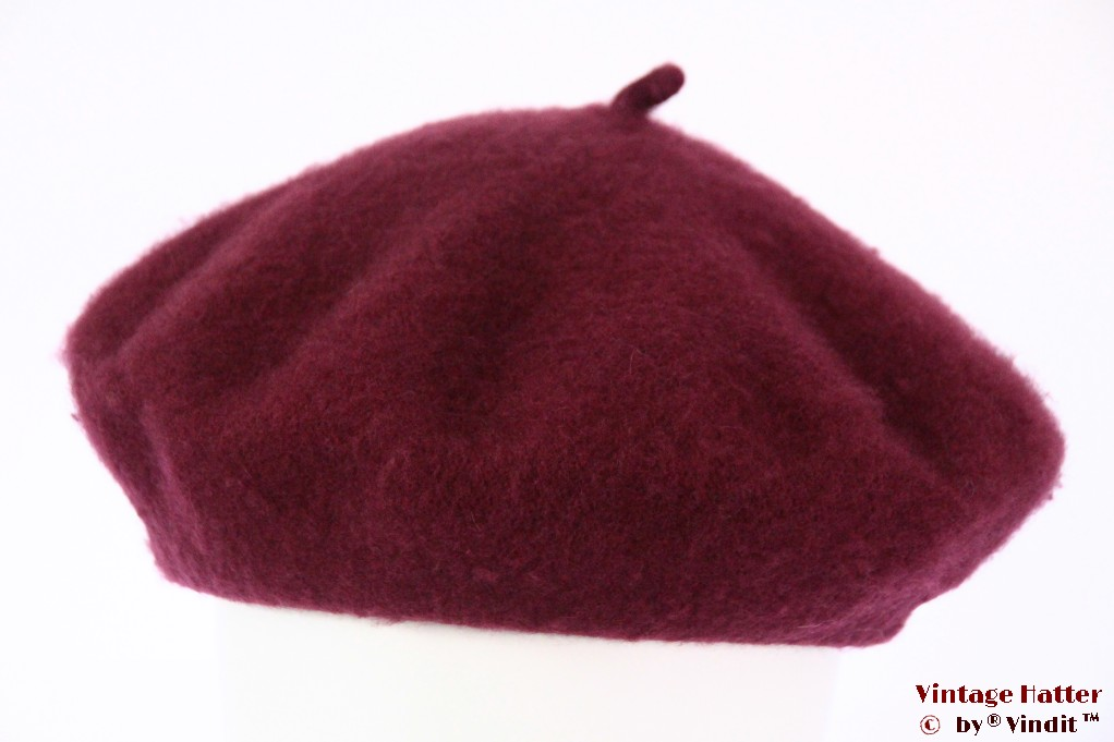 Alpino Beret burgundy purple woven 54-59 [new]