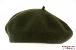 Alpino Baret legergroen geweven 54-59 [nieuw]