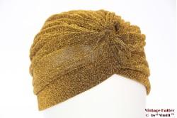 Tulband goud lurex 55-59 [nieuw]