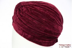 Turban burgundy velvet 55 - 59 [new]