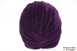 Turban purple velvet 55 - 59 [new]