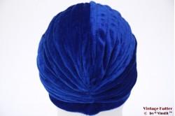 Turban blue velvet 55 - 59 [new]